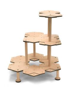 安定したキャットタワーの組みかえ例
