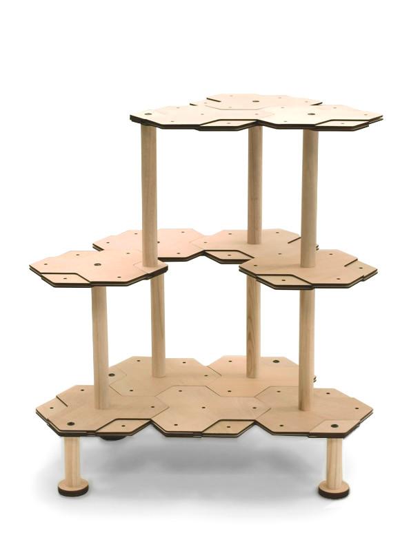 広めのキャットタワーの組みかえ例